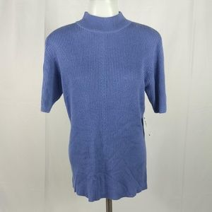NWT Worthington Blouse Top Size Medium Blue